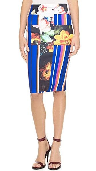 Clover Canyon Grecian Bouquet Pencil Skirt