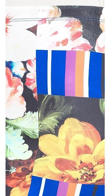 Clover Canyon Grecian Bouquet Pencil Skirt