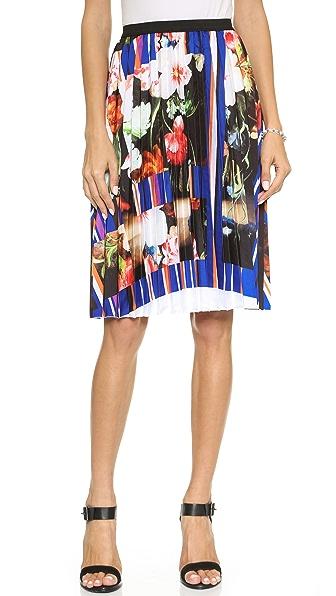 Clover Canyon Grecian Bouquet Pleated Skirt