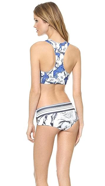 Clover Canyon Marble Party Bikini Top