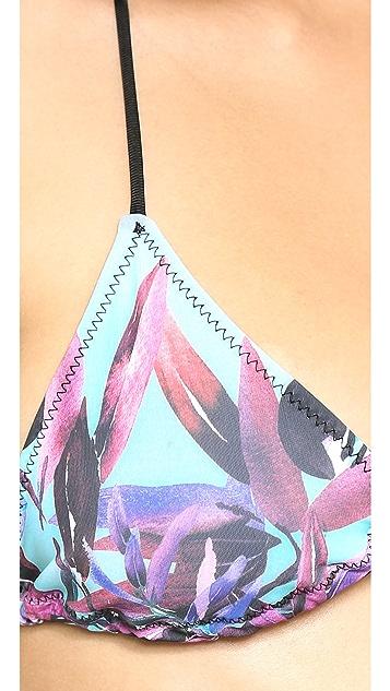 Clover Canyon Olive Tree Bikini Top
