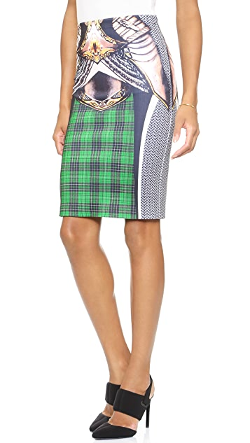 Clover Canyon Magic Armor Fitted Skirt
