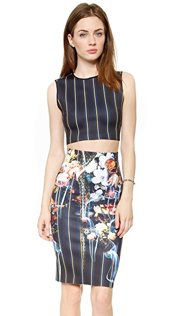 Clover Canyon George Bernard Shaw Crop Top
