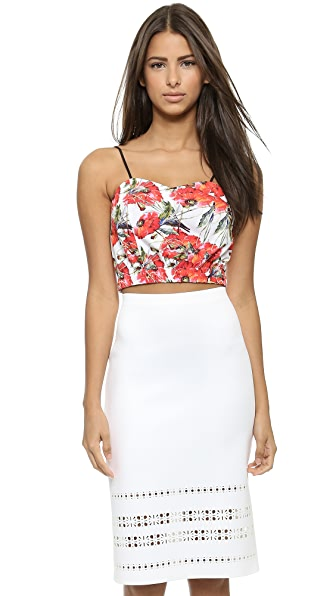 Clover Canyon Floral Garden Scarf Crop Top