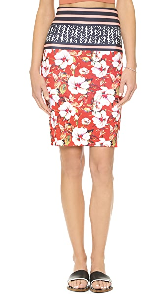 Clover Canyon Floral Sunrise Skirt