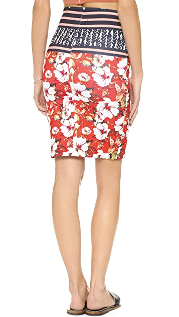 Clover Canyon Floral Sunrise Skirt