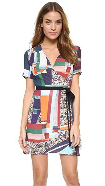 Clover Canyon Modern Mosaic Wrap Dress - Multi