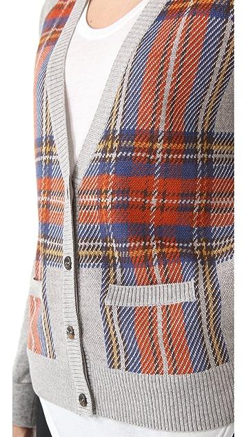 Clu Plaid Colorblock Cardigan
