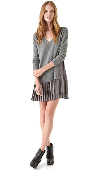 Clu Sweater Dress with Pleats