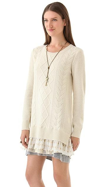 Clu Sweater Dress with Contrast