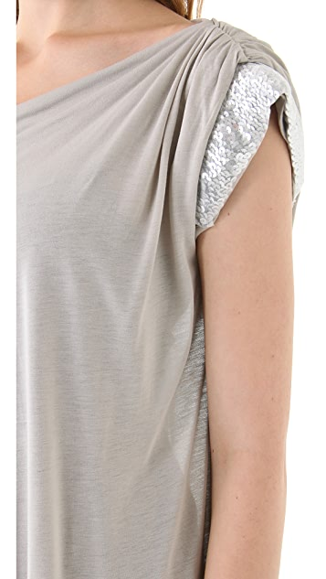 Clu Sequin Trimmed Top