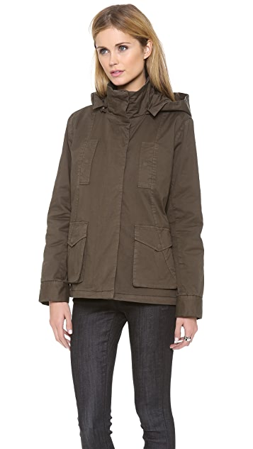 Clu Clu Too Cargo Jacket with Detachable Shirttail