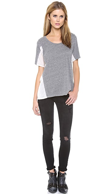 Clu Clu Too Short Paneled Top