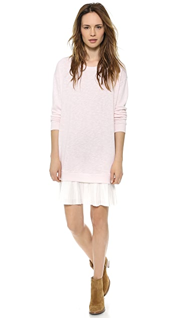 Clu Pleated Sweatshirt Dress