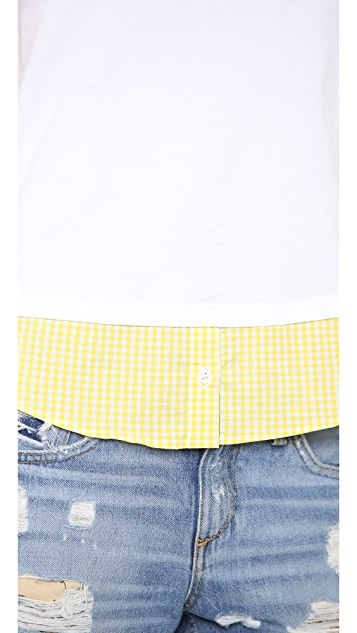 Clu Clu Too Gingham Shirttail Tank Top