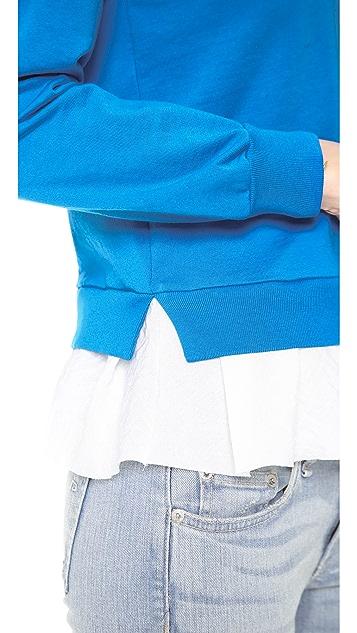 Clu Clu Too Ruffled Sweatshirt