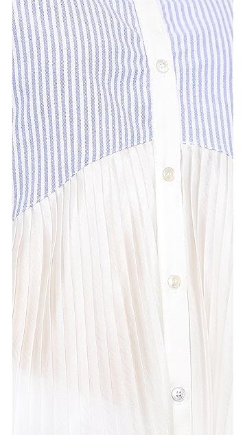 Clu Striped Pleated Top