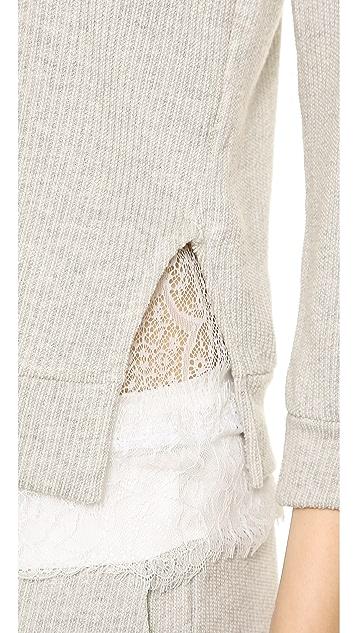 Clu Lace Trimmed Sweatshirt