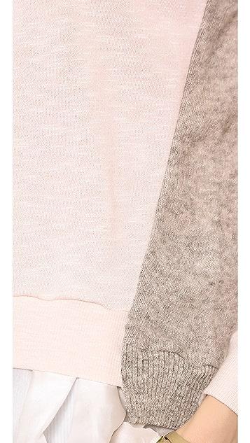 Clu Paneled Ruffled Pullover