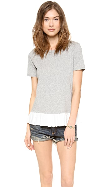 Clu Clu Too Ruffled Short Sleeve Top
