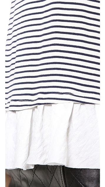 Clu Clu Too Ruffled Striped Top