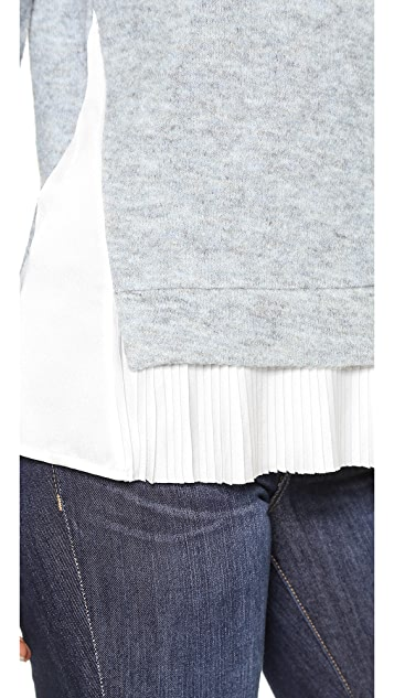 Clu Clu Too Pleated Sweater Top