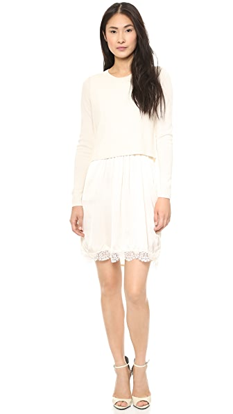 Clu Sweater Attached Slip Dress
