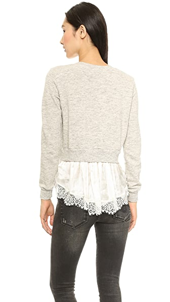 Clu Lace Backed Sweatshirt