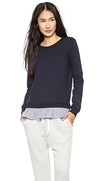 Clu Ruffled Shirting Sweatshirt
