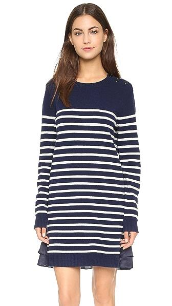 Clu Clu Too Marine Striped Sweater Dress - Navy