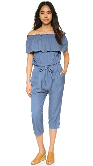 Clu Ruffle Shoulder Jumpsuit