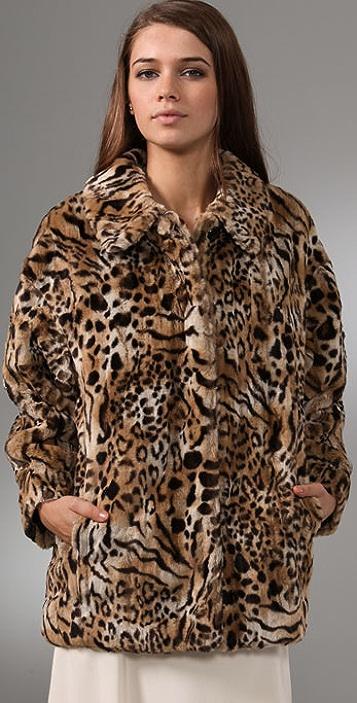 Club Monaco Gwen Faux Fur Coat