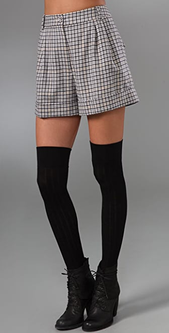 Club Monaco Jacqueline Plaid Winter Shorts