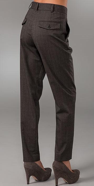 Club Monaco Kaylyn Pleated Plaid Pants