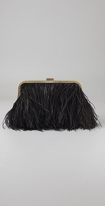 Club Monaco Ostrich Feather Clutch