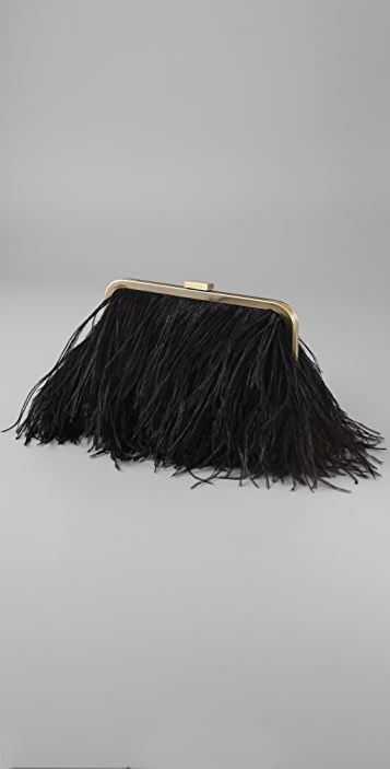 Club Monaco Ostrich Feather Clutch