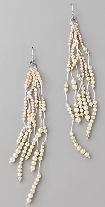 Club Monaco Pearl Lariat Earrings