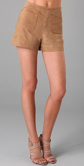 Club Monaco Joven Suede Shorts