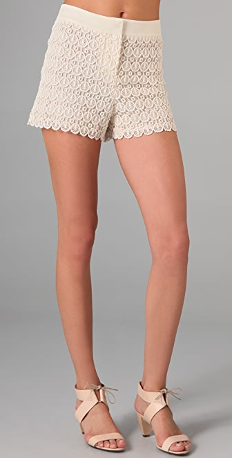Club Monaco Diaz Lace Shorts