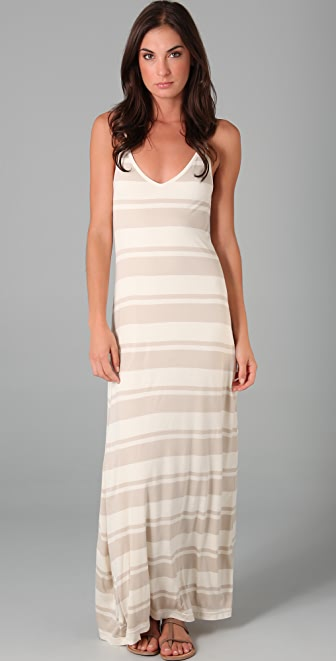 Club Monaco Valeria Striped Maxi Dress