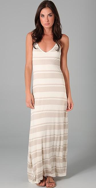Club Monaco Valeria Striped Maxi Dress