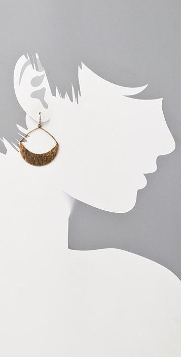 Club Monaco Brushed Gypsy Hoop Earrings