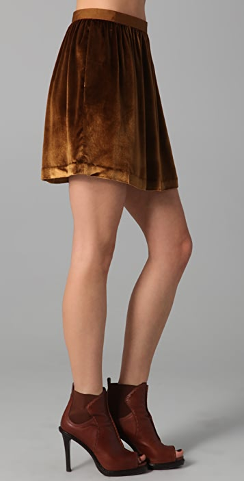 Club Monaco Isabella Velvet Skirt