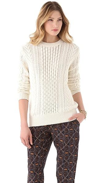 Club Monaco Aran Sweater