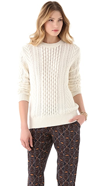 Club Monaco Aran Sweater