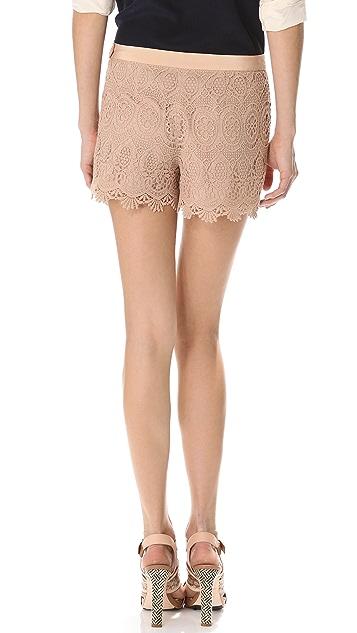 Club Monaco Alaya Lace Shorts