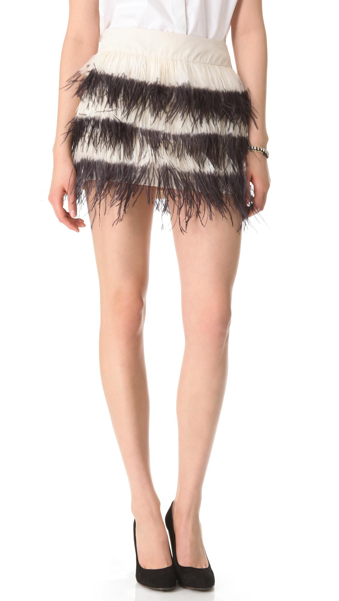 7e95e9f642c6 Club Monaco Bridget Feather Skirt