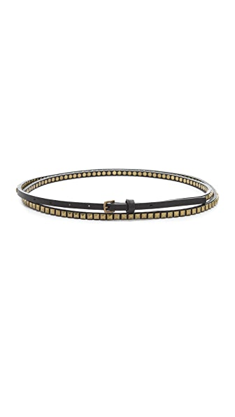 Club Monaco Studded Double Wrap Belt