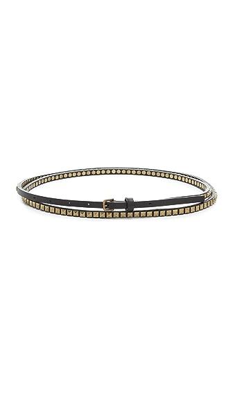 Club Monaco Studded Double Wrap Belt