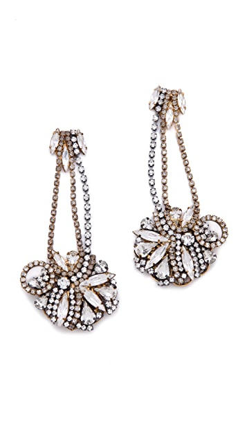 Club Monaco Burnished Gold Earrings by Erickson Beamon for Club Monaco